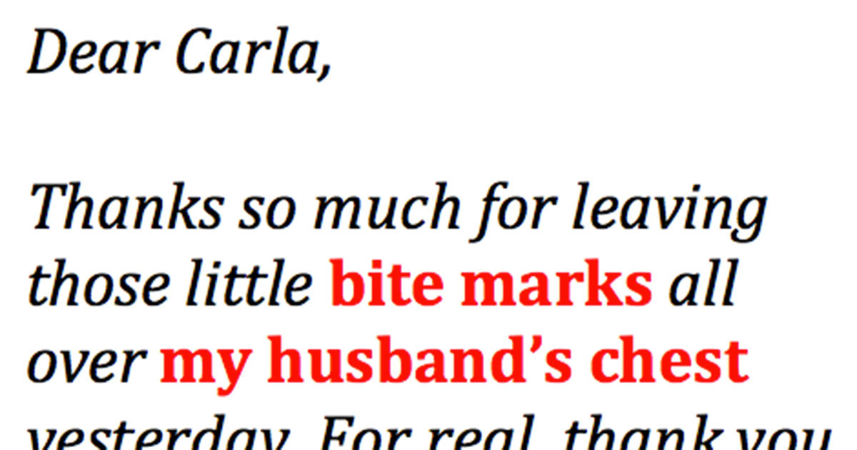 Angry Wife Writes The Best Letter Ever To Husband's Mistress  This