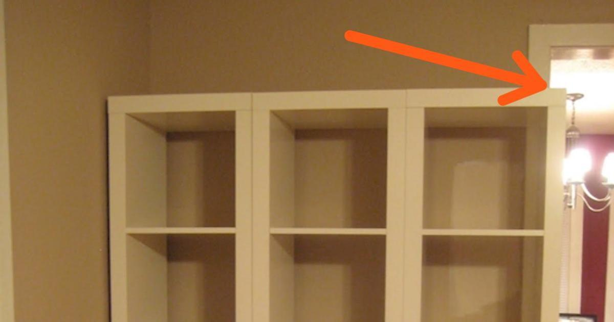 A Simple Inexpensive Trick To Transform Ikea Shelving Into