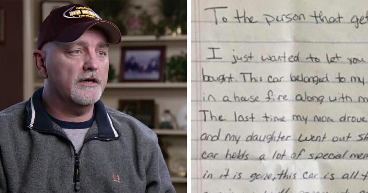 Dad finds envelope in daughter's new car – post goes viral after reading