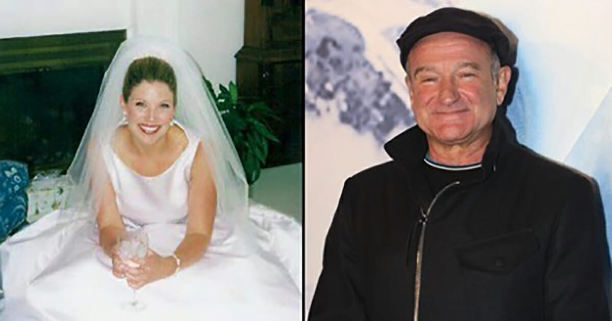 Robin Williams saved a grieving widow's life after her husband's suicide