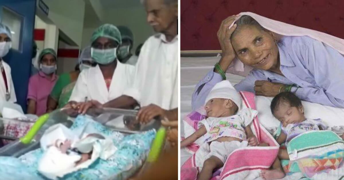 74-year-old woman gives birth to twins, becomes world's